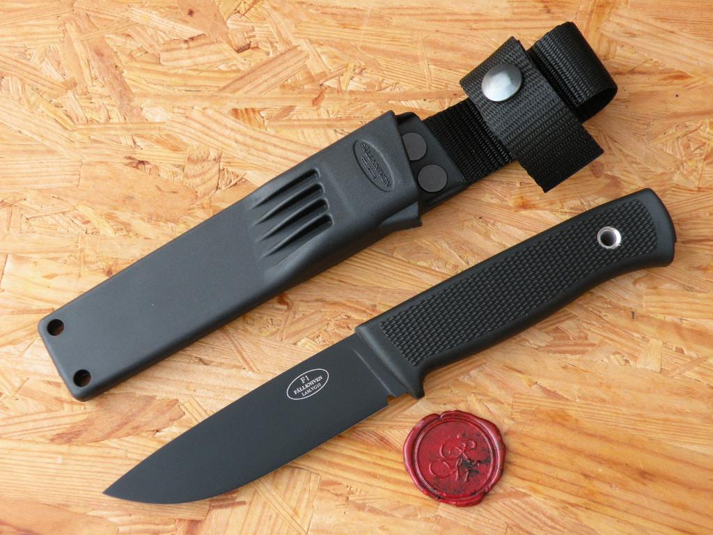 Fällkniven F-1BZ Jagd u. Gürtelmesser mit schwarze Klinge